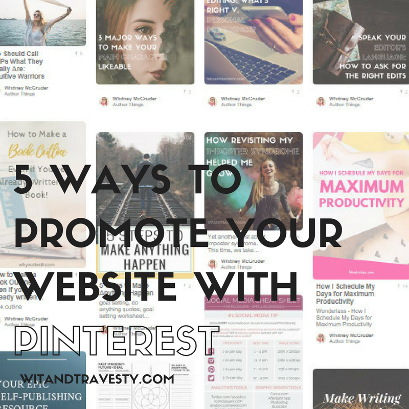 promote your website with pinterest via wit and travesty