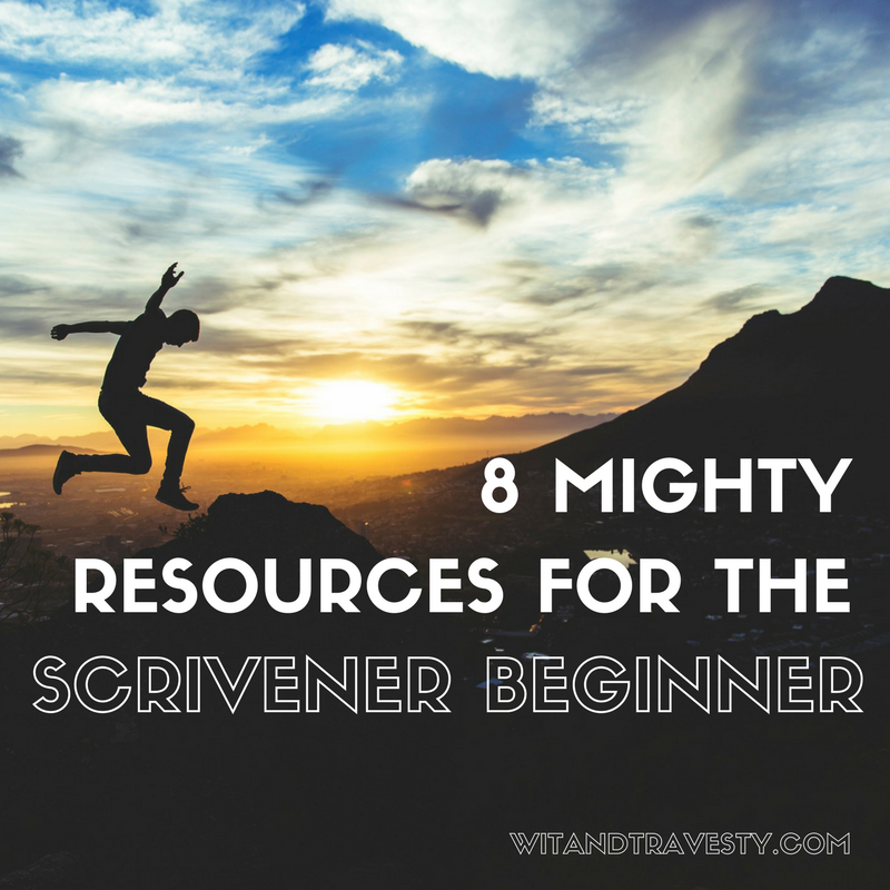 this post shares mighty resources for a scrivener beginner through wit & travesty