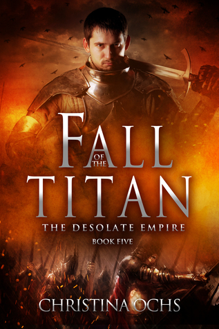 book cover fall of the titan by christina ochs
