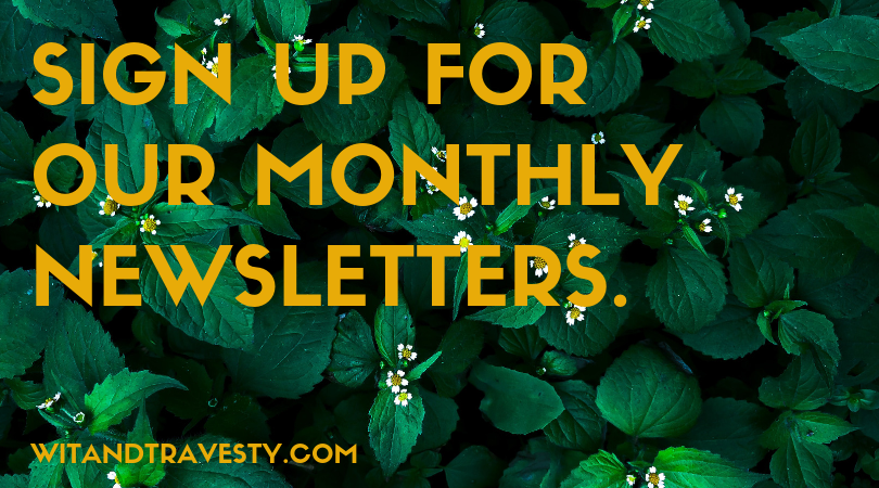 monthly newsletter prompt via wit and travesty