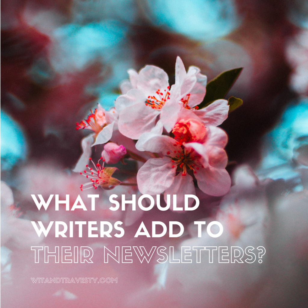 What Should Writers Add to their Newsletters?