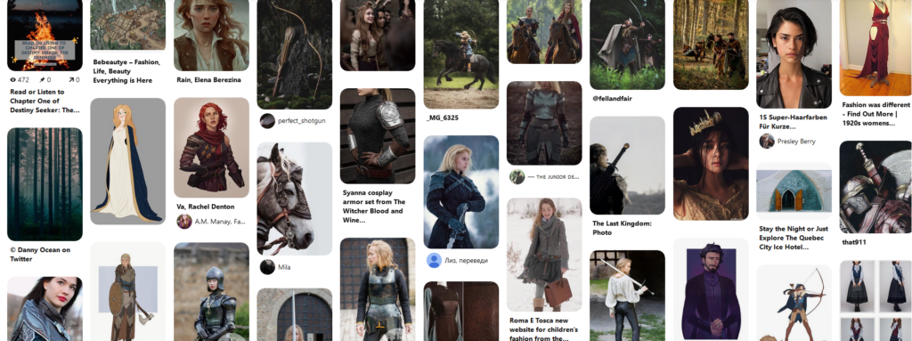 screenshot of the pinterest board for the destiny seeker series